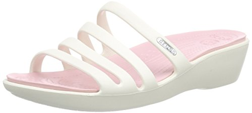 Crocs Womens Rhonda Wedge Sandal, Oyster/Pearl Pink, Size W9 (Oyster Costume)
