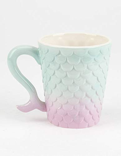 SHOPBXB Mermaid Toothbrush Holder BXB as a Ceramic Bathroom Cup | Also Suitable Makeup Brushes, Pens, Utensils as a Drinking Mug (Mermaid Tootbrush Holder 1)