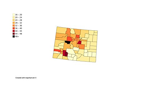 Home Comforts Laminated Poster Map Of Us Income Maps Day 6  Colorado Poster Print 24 X 36