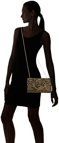 Coast Bags Damen Nadine Clutch, Gold, 4x14.5x25 cm