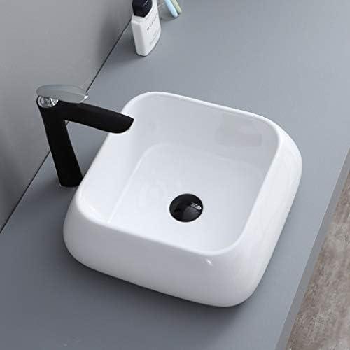 WJ 洗面台 バスルームの洗面台、カウンター上流域セラミックシンクバニティ技術流域(タップ無し)単一流域、利用可能な2つのサイズ /-/ (Size : 41X41X12.5cm)