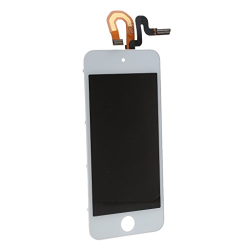 MonkeyJack NEW Digitizer Touch Screen Glass w/ LCD Display Assembly Repair Kit for iPod Touch 5 White by MonkeyJack