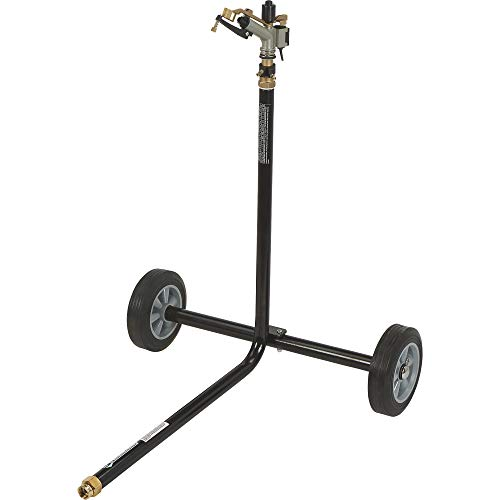 Strongway Wheeled Sprinkler – 1in. Sprinkler Head with 3 Nozzles, 8in. Rubber Tires