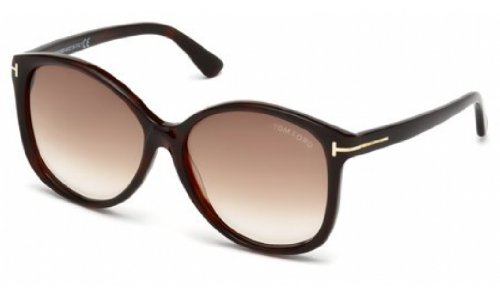 Tom Ford Alicia FT0275 Sunglass-52F Dark Havana (Grad - Alicia Tom Ford Sunglasses