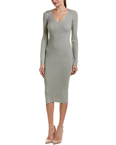 French Connection Women's Virgie Knits Dress, Light Grey Melange, (French Connection Sweater Dress)