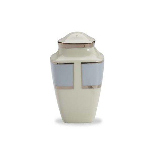 Lenox Blue Frost Platinum Banded Ivory China Square Pepper Shaker