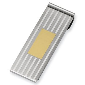 Yellow Steel Stainless Chisel Brushed Clip Money Polished plated and IP 5w45aXdxqH