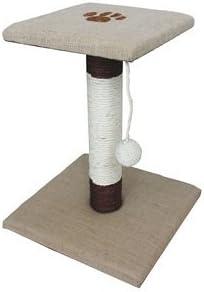 Rascador de huellas para gatos – Tela de arpillera natural – 44 cm ...