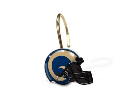 Northwest NFL St. Louis Rams Shower Curtain Rings (Set of ()