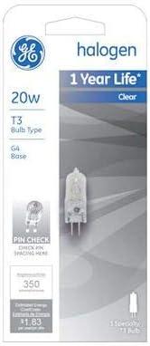 GE GEL97669 Halogen Bulb Pack of 4 20 Watts