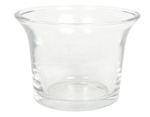 """Hosley's Set of 12 Clear Glass Oyster Tea Light Holders - 2.5"""" Diameter"""