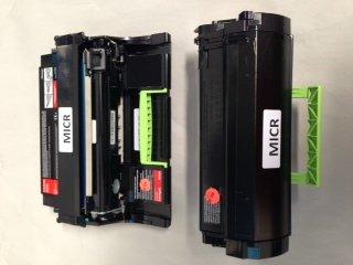 Dell 2360 MICR KVK63 OEM Alternative Micr Imaging Drum Unit. 90DC4 and Dell 2360/3460/3465 MICR Oem Alternaitve Black Toner Cartridge. C3NTP by Toner Cartridges Made in USA