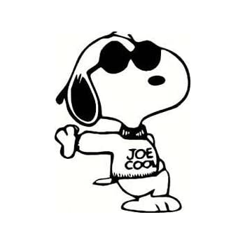 Amazoncom Snoopy Joe Cool Car Window Sticker Vinal Skin Decal - Cool vinyl decal stickers