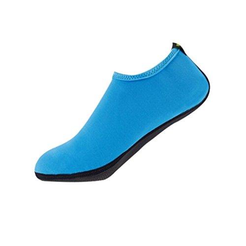 Tenworld Dames En Heren Sneldrogende Water Schoenen Aqua Sokken Voor Strand Zwembad Surf Yoga Oefening Blauw