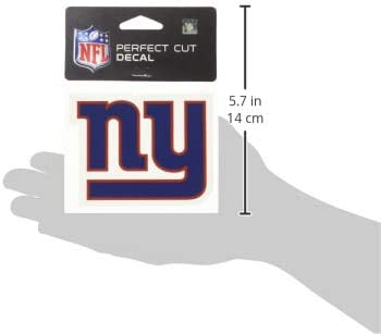 4 x 4 WinCraft NFL New York Giants 63059011 Perfect Cut Color Decal Black
