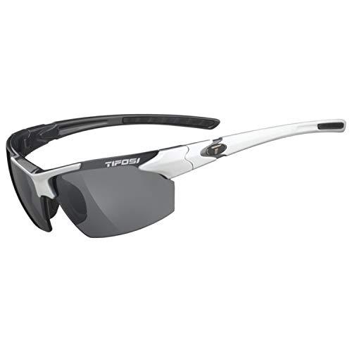 Tifosi Jet 0210405870 Wrap Sunglasses, White & Gunmetal, 65 mm from Tifosi