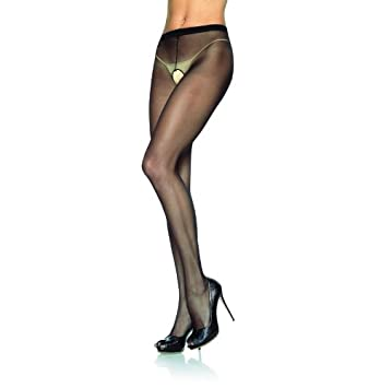 9caffcb5387eb Crotchless Tights - One Size - Black: Amazon.co.uk: Health & Personal Care