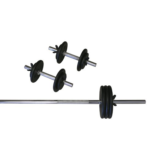 Amber Sports 160-Pound Standard Weight Set by Amber