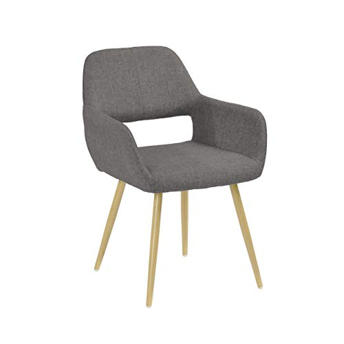 Dcplan-Modern Dining Chairs Accent Armchair for Kitchen, Dining, Bedroom, Living Room Stylish Easy Assemble Side Chairs…