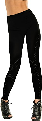 Rockstar Costumes For Adults (Rubie's Costume Adult Rockstar Studded Leggings, Black, One Size)