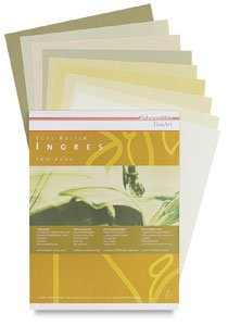 Hahnemuhle Ingres 9 Color Pastel Pad 9.25x12 Inches 100gsm 20 Sheets