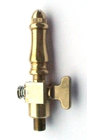 Brass Spindle (SP108) Open Flame Burner & Valve for Gas Light - Natural Gas