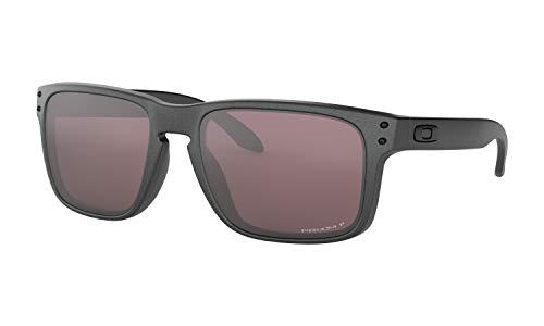 Oakley Men's Holbrook Sunglasses (Steel/Prizm Daily Polarized, One Size) Metal Vault Sunglass Case (Silver) (Oakleys Holbrook)