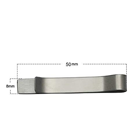 fd5e083720df Image Unavailable. Image not available for. Color: FelixStore Beadsnice Skinny  Tie Bar Stainless Steel Personalized Tie Clip ...