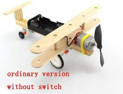 Vehicles-OCS 1set Wind Powered Mini Aircraft Taxiing Glider Airplane DIY Science Technology Small Inventions Scientific Experiments Handmade - (Color: Without Switch)