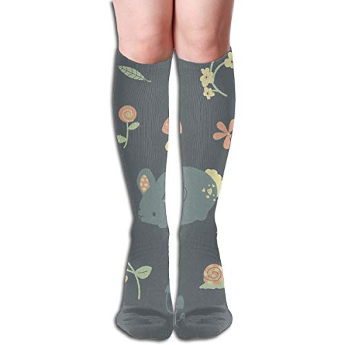 Price comparison product image Socks Bunny Garden Pattern Customized Womens Stocking Decor Sock Clearance for Girls