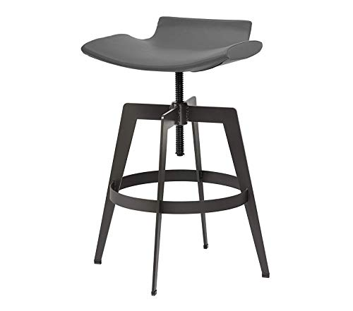 Wood & Style Bancroft Adjustable Barstool - Graphite Decor Comfy Living Furniture Deluxe Premium Collection - Toilet Classic Bancroft