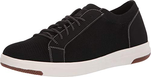 Dockers Men's Franklin Smart Series Knit Sneaker with Smart 360 Flex and NeverWet Black Knit/Nubuck 12 D US