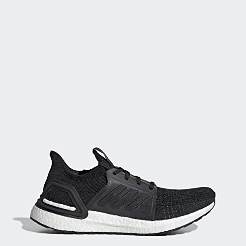adidas Men's Ultraboost 19 Running Shoe, Black/Black/White, 12 M US