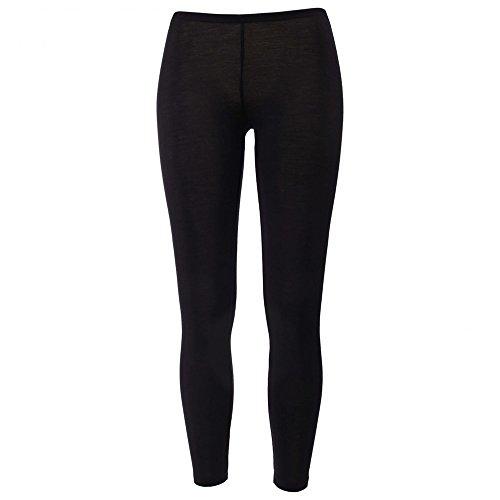 EcoAble Apparel Women's Thermal Leggings Pants Base Layer, Organic Merino Wool Silk Blend (38-40/Small, Black)