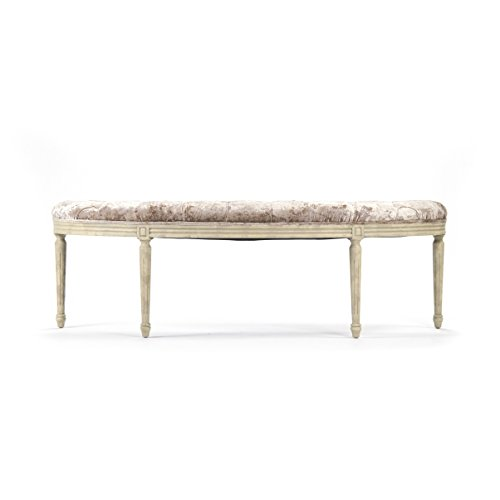 Zentique Louis Curve Bench, Velvet, used for sale  Delivered anywhere in USA