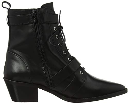 Black Ambassador Ankle Leather Office black Women''s 00078 Boots xzPcOq