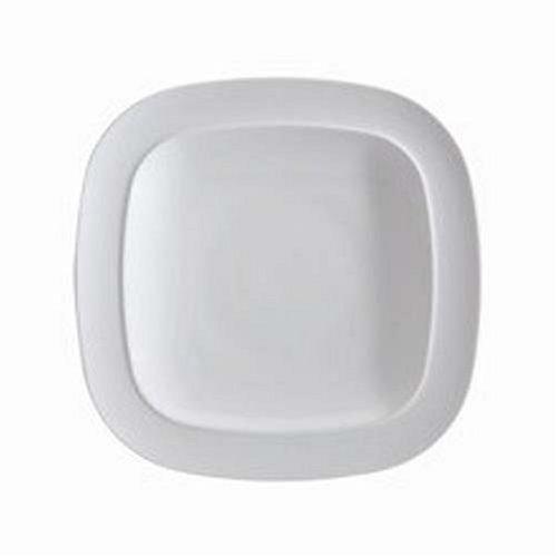 Denby White Squares Dinner Plate