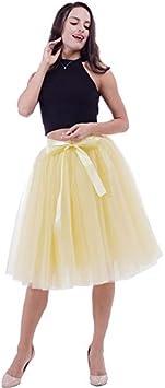 NVDKHXG 6Layers 65cm Moda Falda de Tul Faldas de tutú ...