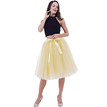 moda mejor valorada nuevo estilo y lujo más baratas NVDKHXG 6Layers 65cm Moda Falda de Tul Faldas de tutú ...