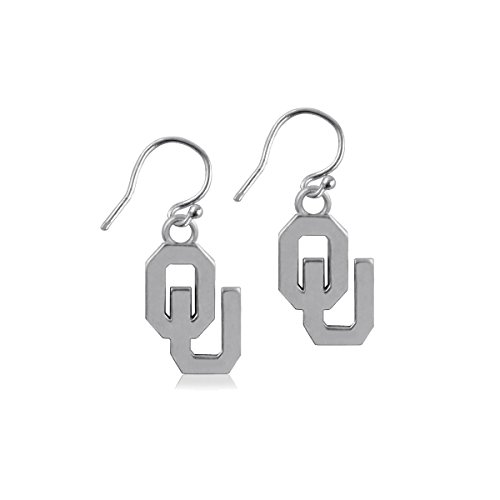 University of Oklahoma Sooners OU Sterling Silver Jewelry by Dayna Designs (Dangle Earrings) (Silver Oklahoma Sooners Ring Sterling)