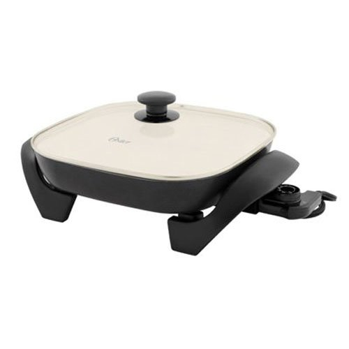 Oster CKSTSKFM12W-ECO Dura Ceramic Square Electric Skillet,