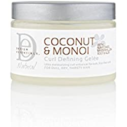 Design Essentials Natural Curl Defining Gelee-Lightweight Defined Soft Luminous Frizz-Free Curls w/Great Hold-Coconut & Monoi Collection, 12oz.