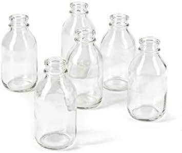 Serene Spaces Living Glass Milk Bottle Bud Vases Vintage Milk-Bottle Style Vase