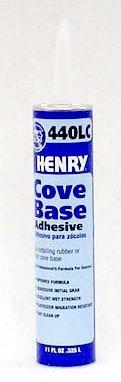 Henry No.440 Cove Base Adhesive Concrete Block, Drywall Wood, Brick, Plastic Tube 11 Oz