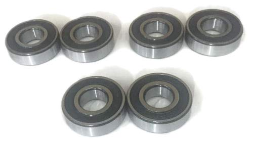 Set of 6 Lawnmower Deck Spindle Bearings Replaces D-3058 / D3058 ()