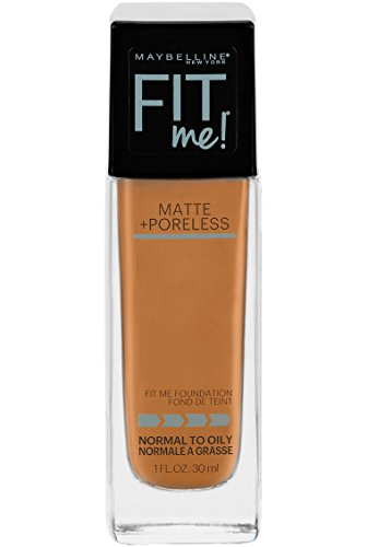 Maybelline Fit Me Matte + Poreless Liquid Foundation Makeup, Warm Sun, 1 fl. oz. Oil-Free Foundation