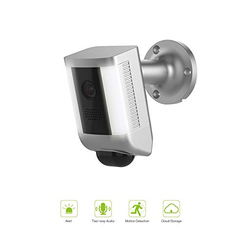 FREECAM Floodlight Camera Motion-Activated Security Cam Two-Way Talk with Siren Alarm Spotlights Security Cam, Built-in Suspicious Intrusion Detection L860(Silver)