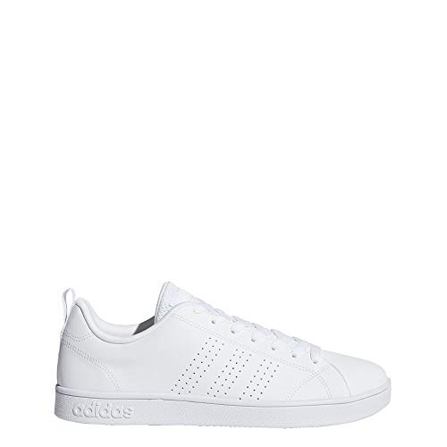 adidas Men's Vs Advantage Cl Sneaker, White/White/White, 10 M US (Adidas Tennis Trainers)
