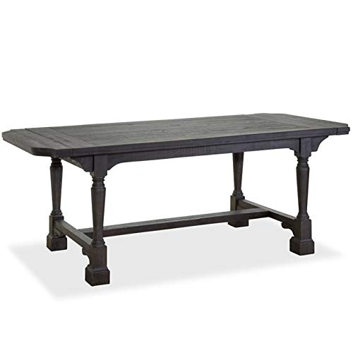 Magnussen Bedford Corners Extendable Dining Table in Anvil Black