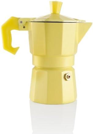 BRANDANI OFICIAL CAFETERA AROMATIC EXPRESO 1 TAZA AMARILLA ALUMINIO / PVC 56505: Amazon.es: Hogar